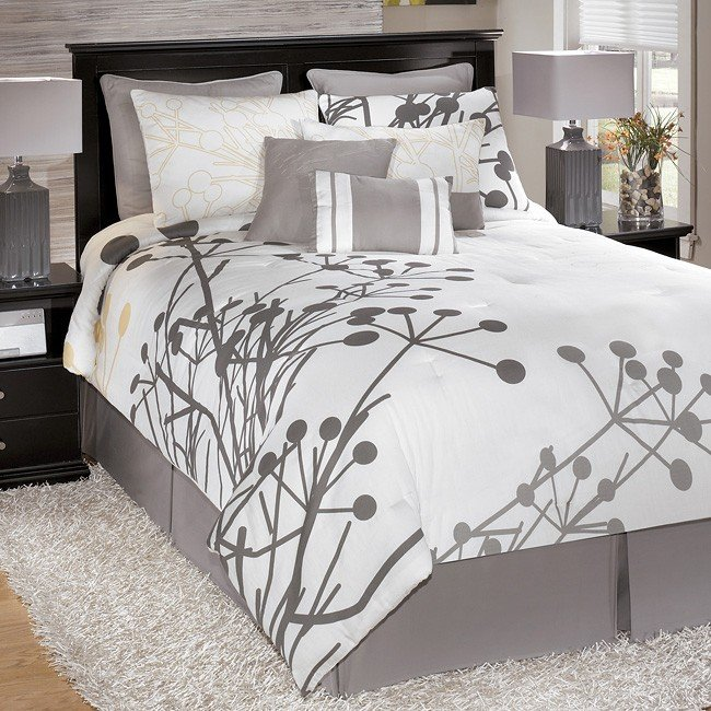 Gray Bedding Set Signature Design By Ashley