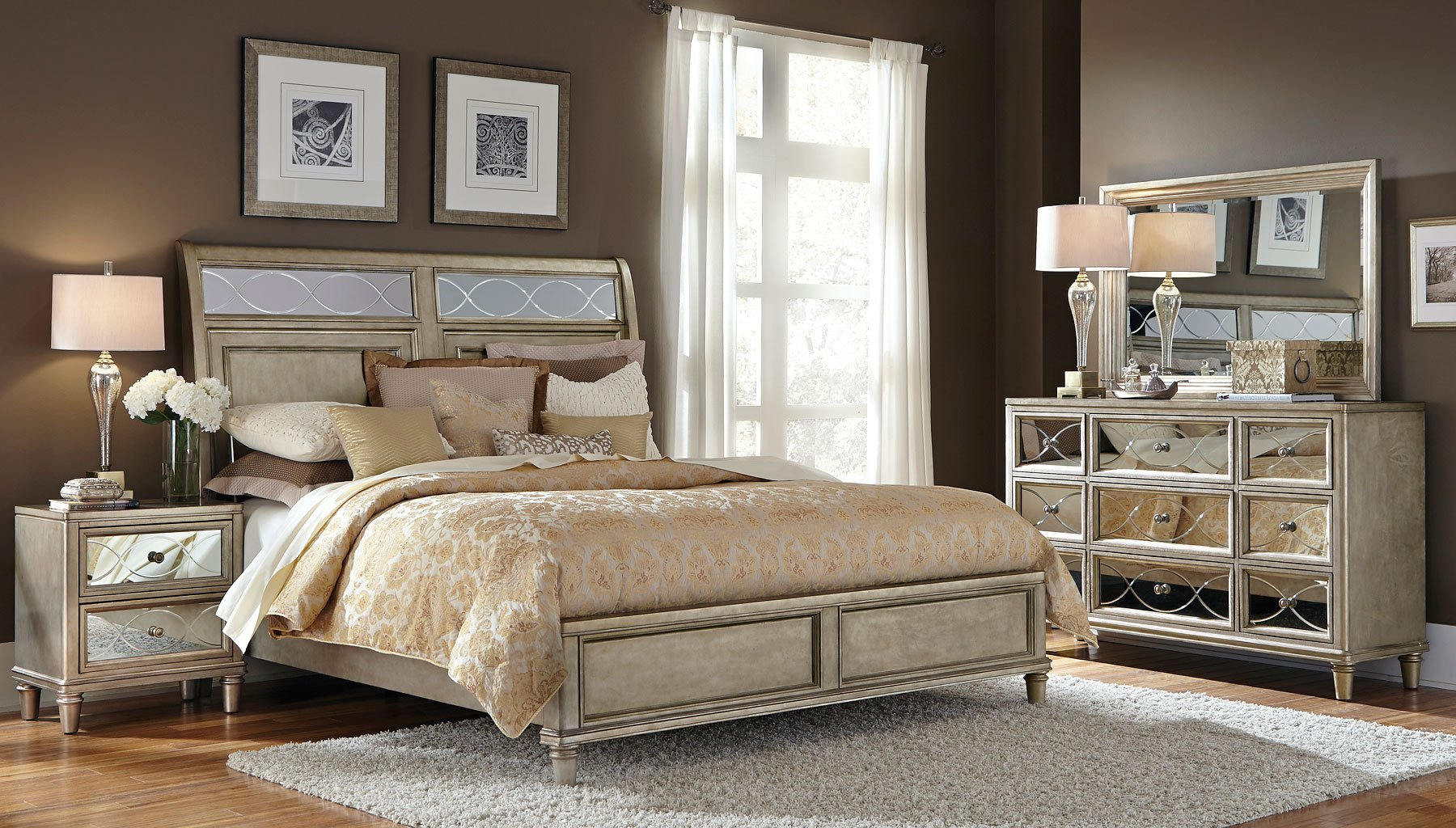 glass sleigh bedroom set bedroom sets bedroom furniture bedroom