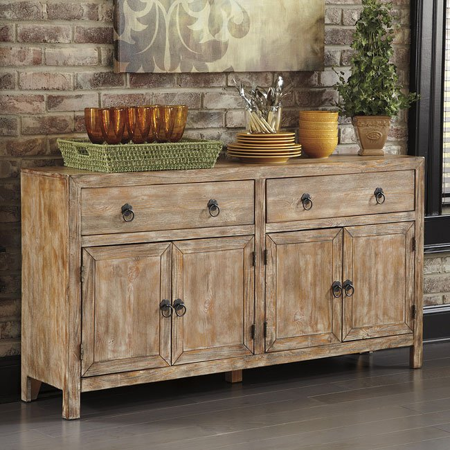 Rustic Accents Cabinet Bisque Signature Design By Ashley