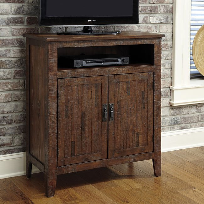 Rustic Accents Tv Cabinet Brushed Brown Signature Design