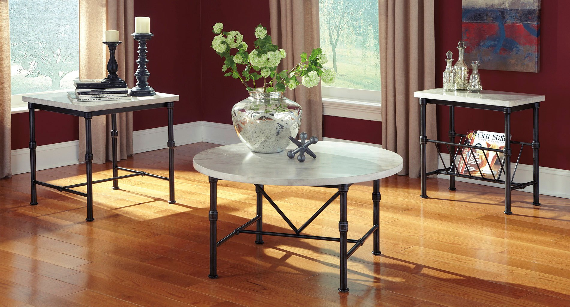 beauban 3 piece occasional table set occasional table sets