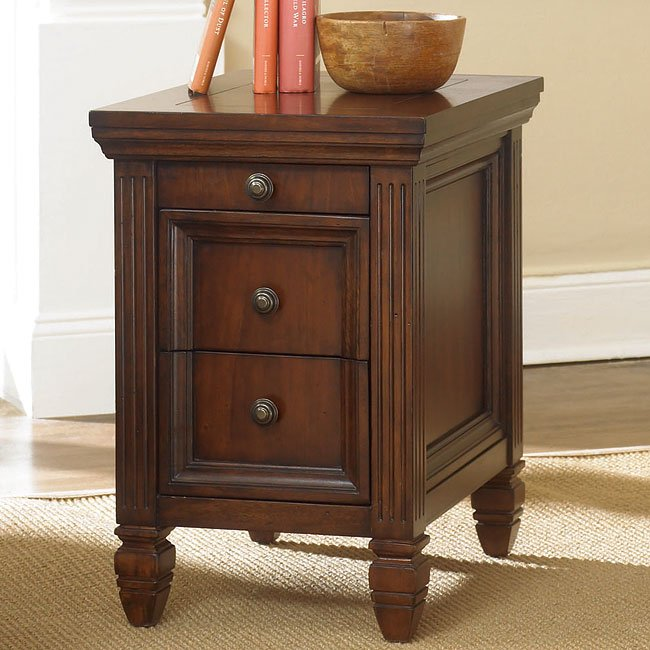 Hidden Treasures Chairside Table Cherry End Tables Occasional And Accen