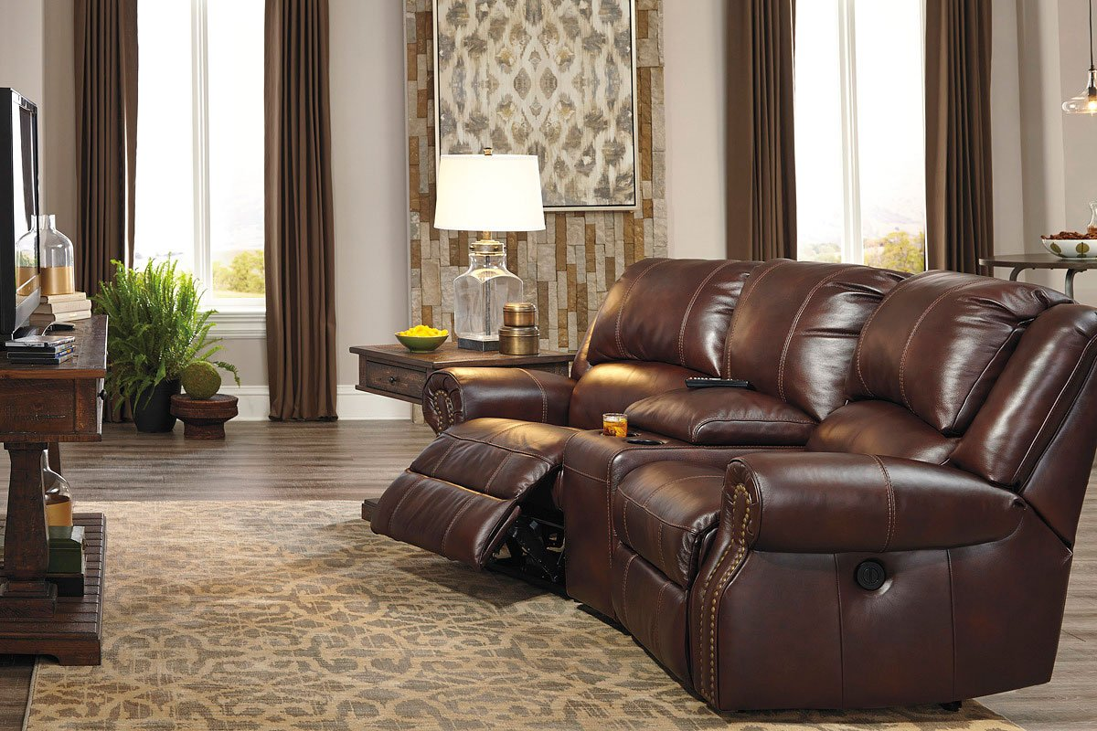 Collinsville Chestnut Power Reclining Home Theater