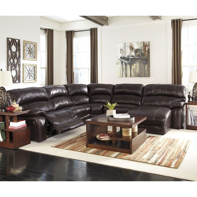 Modular Sectional Sofa Ashley: Damacio Dark Brown Modular Sectional Set Signature Design