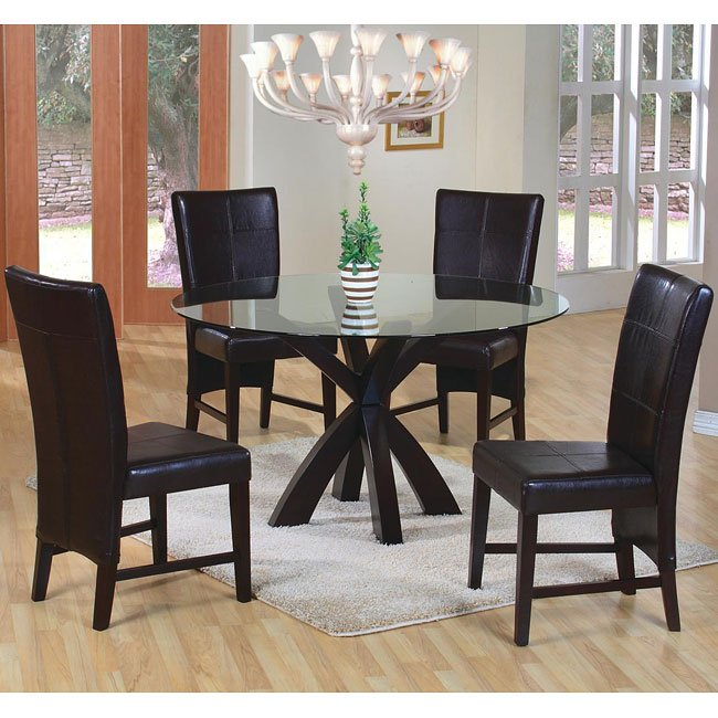shoemaker round dining room set coaster furniture