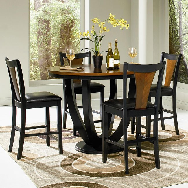 boyer counter height dining room set coaster furniture