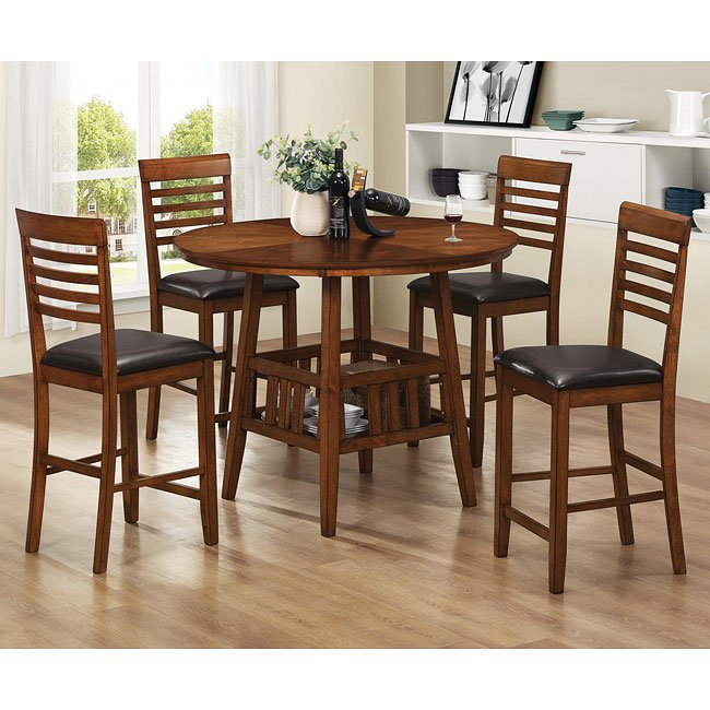 Knoxville Counter Height Dining Room Set Coaster Furniture Furniturepick