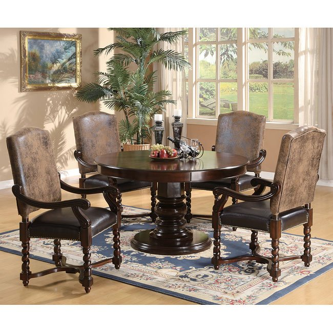 Andrea Formal Dining Room Set Coaster Furniture: Riverside Round Dining Room Set Coaster Furniture