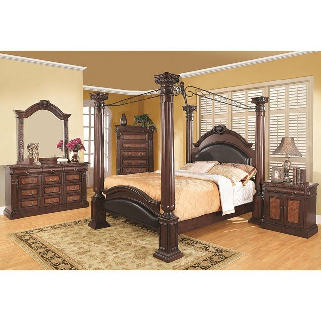 grand prado canopy bedroom set coaster furniture furniturepick