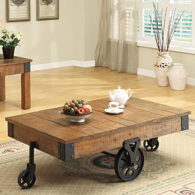 Distressed Country Coffee Table Coaster Furniture FurniturePick