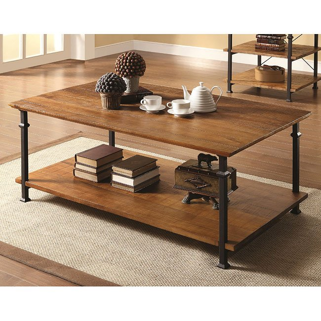 Ashley Furniture Distressed Coffee Table: Mission Style Distressed Coffee Table Coaster Furniture