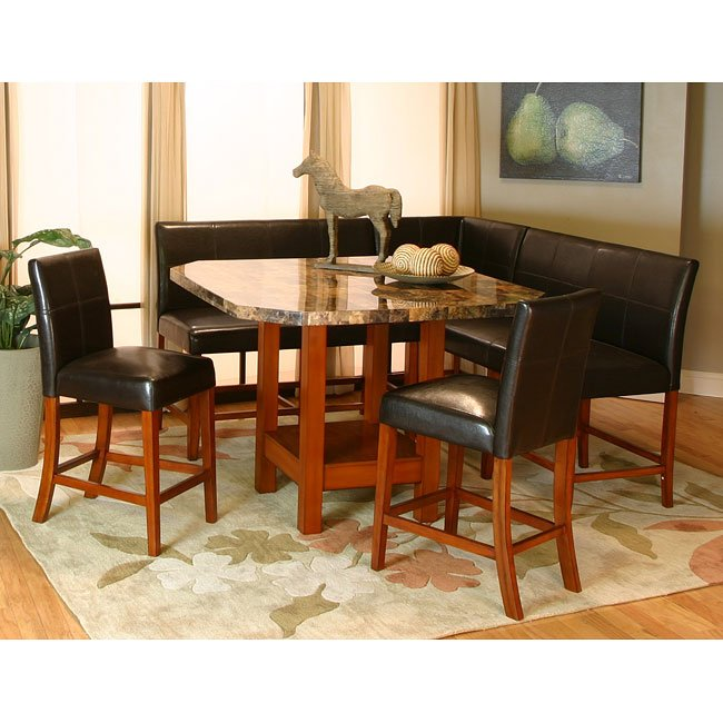 Nook Dining Room Set: Mayfair Counter Height Corner Dining Nook Set Cramco