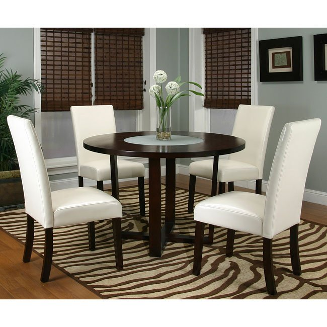 Kemper Round Trestle Dinette with 2 Chair Options Cramco  : cra 25310 69 CR dr set 1 from www.furniturepick.com size 650 x 650 jpeg 81kB