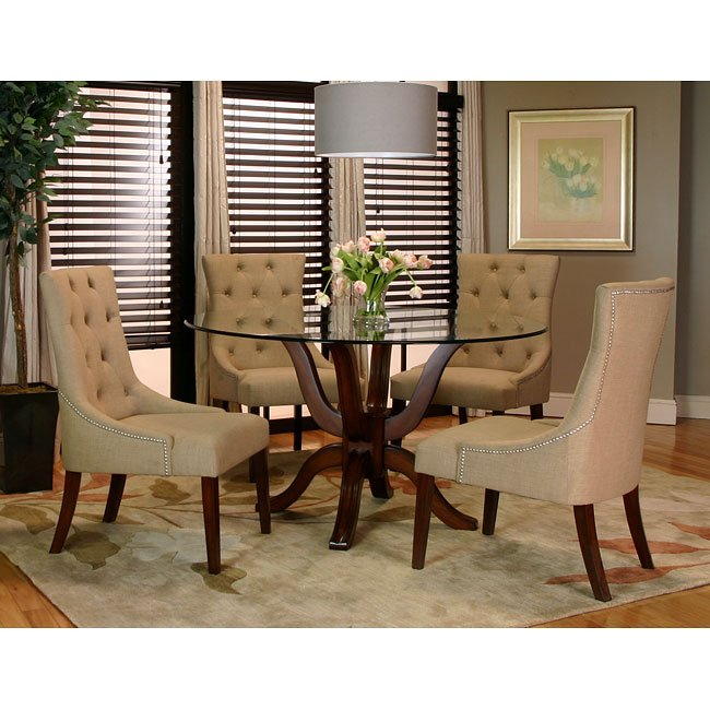 Sonnet Dining Room Set W/ Essence Chairs Cramco