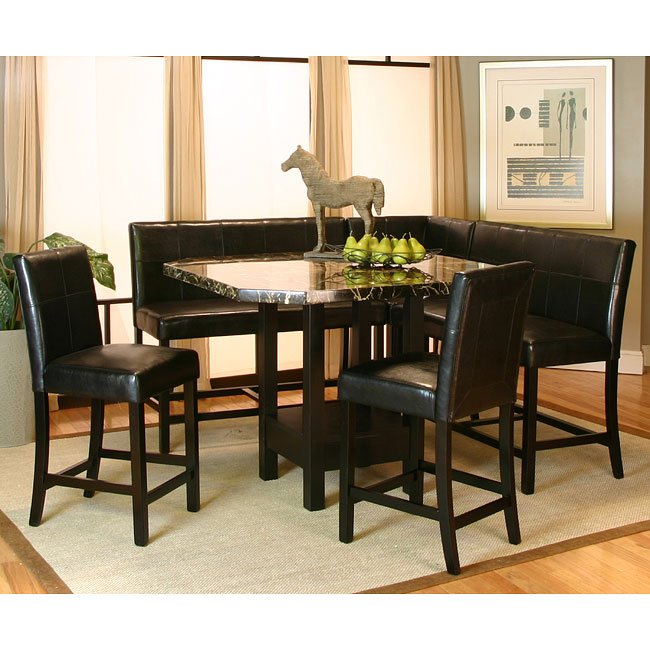 chatham counter height corner dining nook set cramco furniturepick. Black Bedroom Furniture Sets. Home Design Ideas
