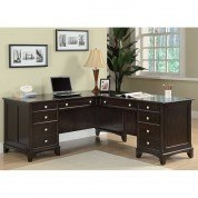 Garson Home Office Set w/ L-Shape Desk
