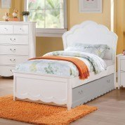 Cecilie Panel Bed (White)