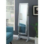 Cheval Mirror w/ Crystal Frame