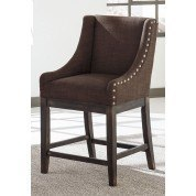 Moriann Brown Wing Back Barstool (Set of 2)