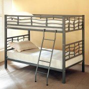 Dark Silver Metal Bunk Bed