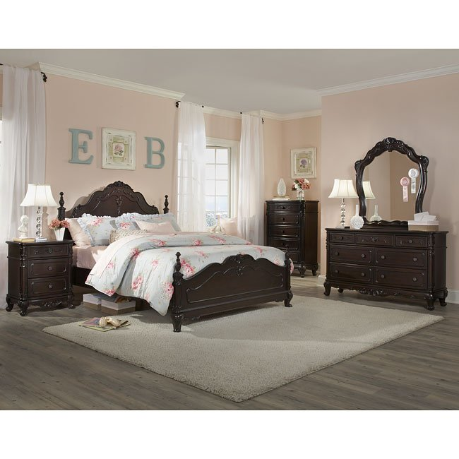 Cinderella Bedroom Set Cherry Homelegance