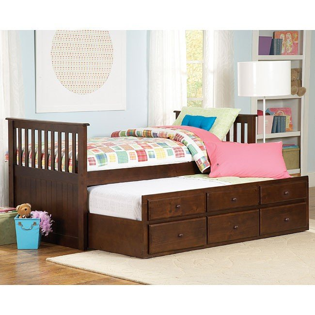 Zachary Storage Trundle Bed Twin Homelegance Furniturepick