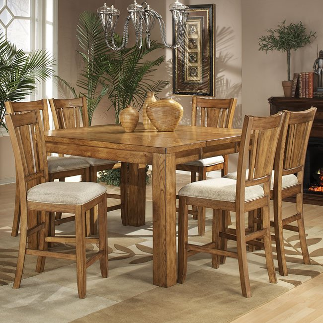 fusion counter height dining room set light oak