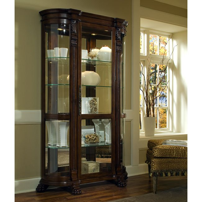 foxcroft curved end curio pulaski furniture furniturepick