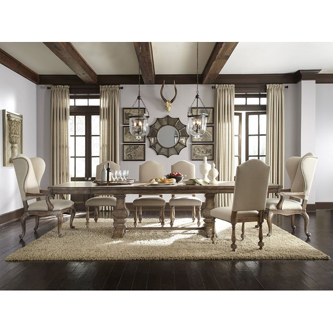 desdemona dining room set w amethea chairs pulaski