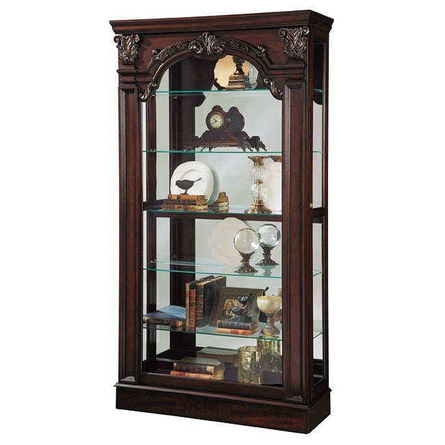 winchester sliding front curio pulaski furniture furniturepick