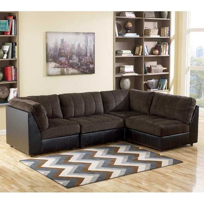 Modular Sectional Sofa Ashley: Hobokin Chocolate Modular Sectional Signature Design By