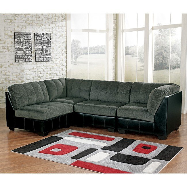 Modular Sectional Sofa Ashley: Hobokin Pewter Modular Sectional Signature Design By