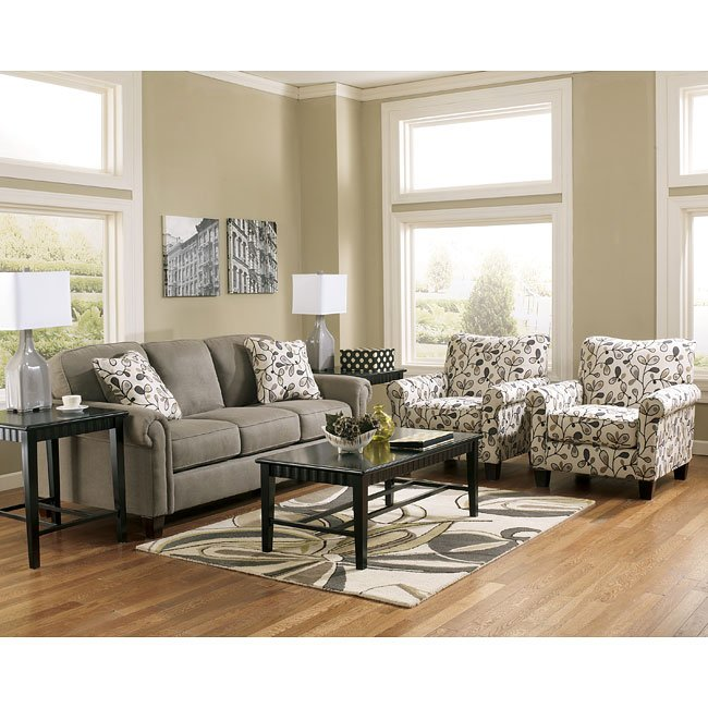 Gusti Dusk Sofa Set W/ Accent Chairs Signature Design By