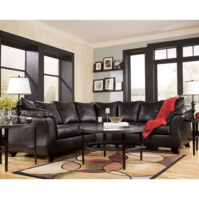 San marco durablend chocolate sectional signature design for Ashley san marco chaise
