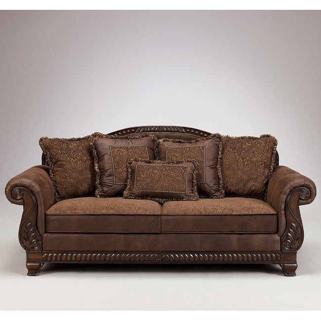 bradington truffle sofa signature design by ashley furniture