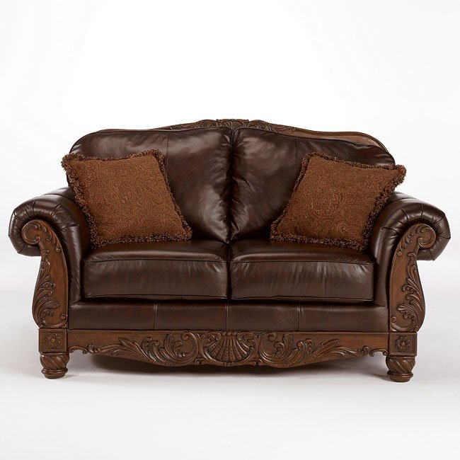 Dark Brown Loveseat Signature Design By