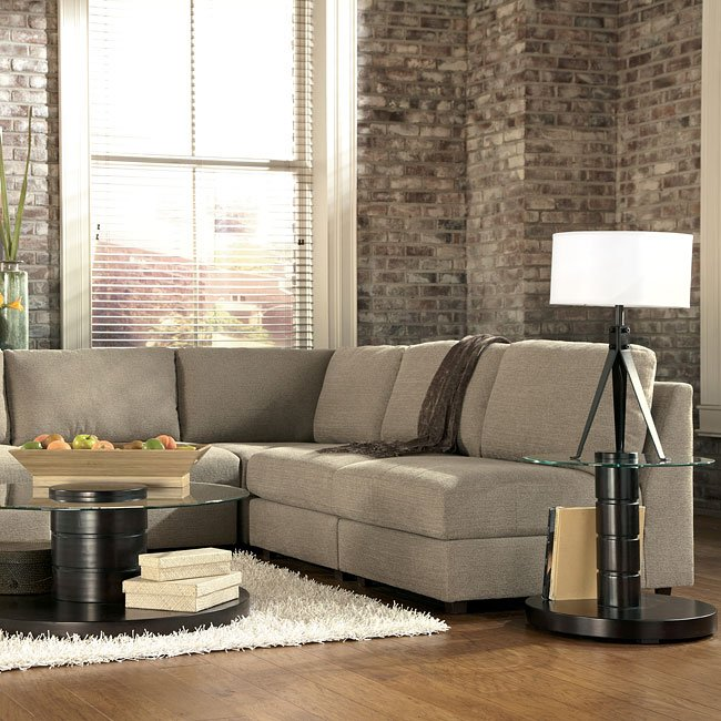 Modular Sectional Sofa Ashley: Tosha Linen Modular Sectional Signature Design By Ashley