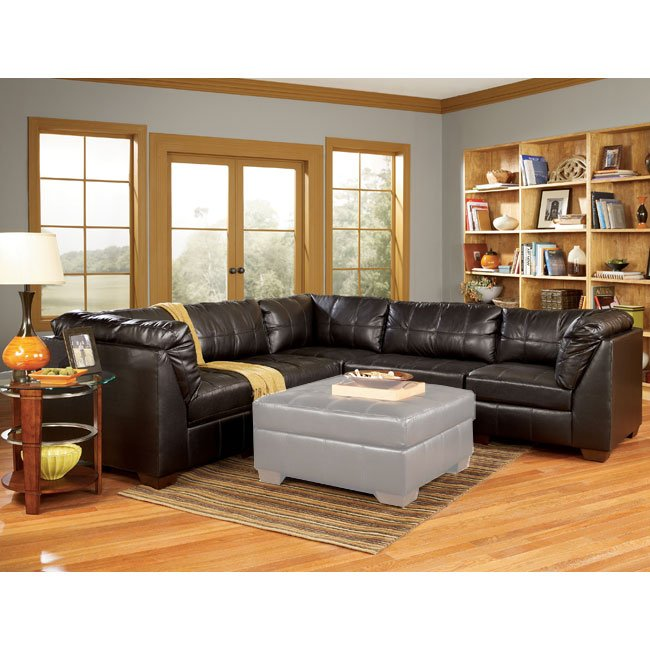 San marco chocolate 5 piece modular sectional signature for Ashley san marco chaise