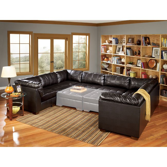San marco chocolate 8 piece modular sectional signature for Ashley san marco chaise