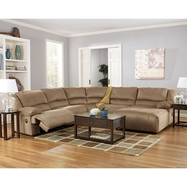 Ashley Furniture Living Room Sets: Mocha Chaise Sectional Living Room Set Signature