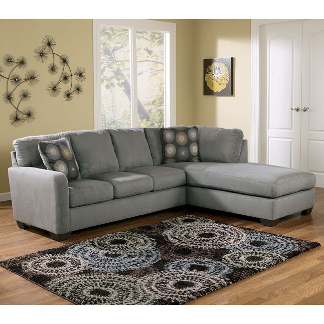 Zella Charcoal Right Facing Chaise Sectional Signature