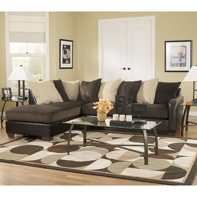 Ashley Furniture Online Catalog: Chocolate Sectional Living Room Set Signature