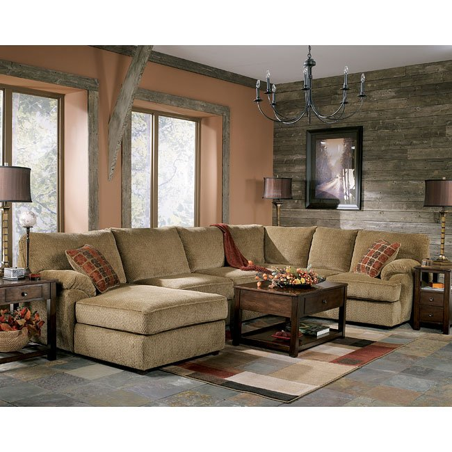 Caramel Sectional Living Room Set Signature