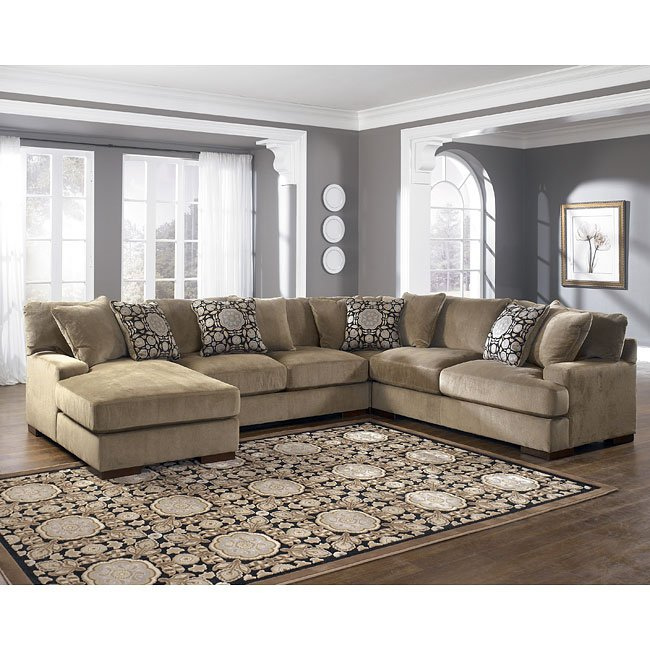 Mocha Left Facing Chaise 4-Piece Sectional