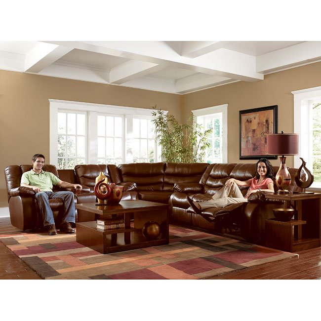 Revolution Saddle Reclining Sectional Living Room Set