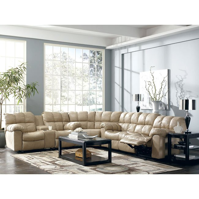 Max Chamois Reclining Sectional Living Room Set Signature Design By Ashley Furniture