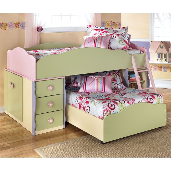 Doll House Twin Over Twin Loft Bed Signature Design By Ashley Furniture Furniturepick