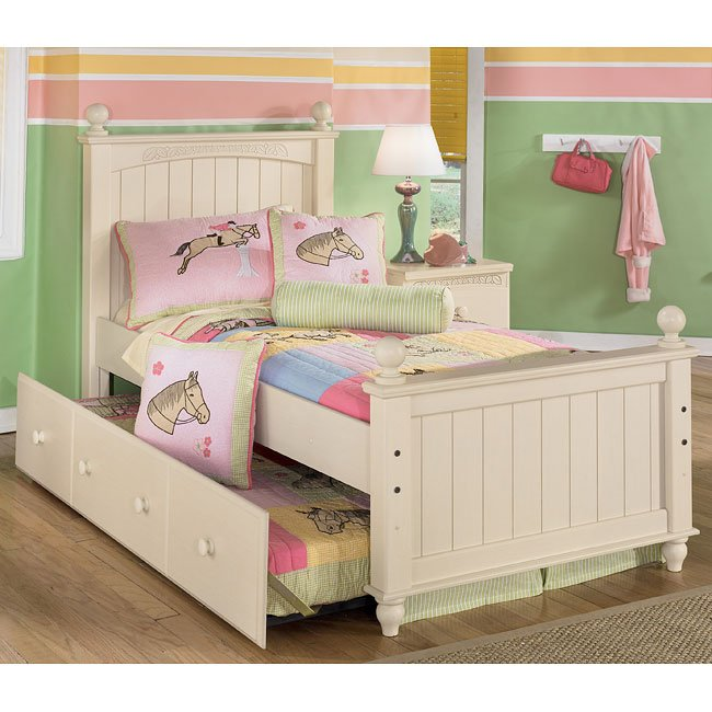 Cottage retreat poster bed with trundle signature design - Cottage retreat collection bedroom furniture ...