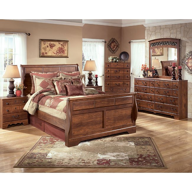 timberline sleigh bedroom set signature design by ashley