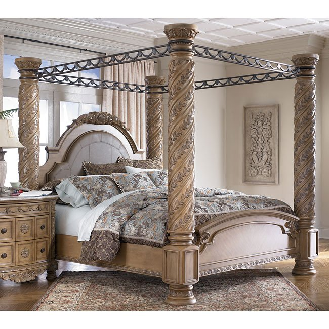 South coast poster canopy bed signature design by ashley - Pictures of canopy beds ...